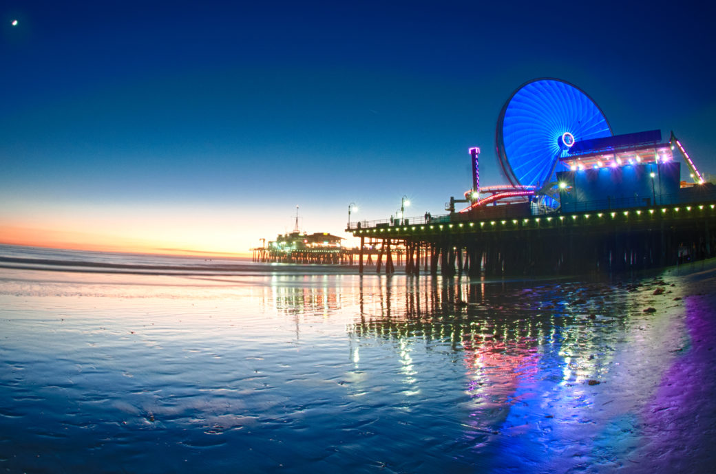 Sunset @ Santa Monica Beach